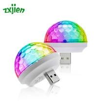Mini USB Colorful Atmosphere Car Light USB Party Light LED RGB Interior Lamp Disco DJ Magic Stage Effect Portable Lighting