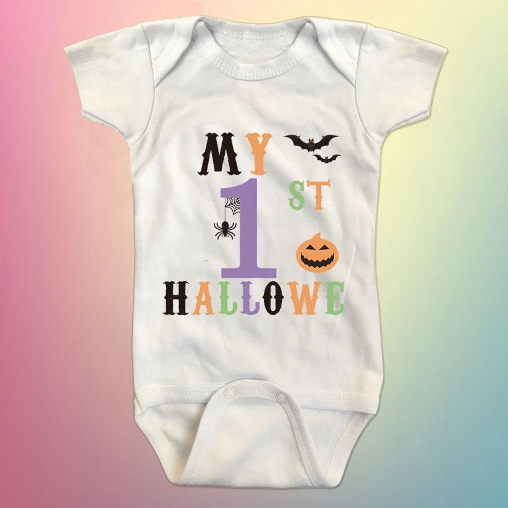 Summer Baby Boys Girls Short Sleeve Romper Hallo We Letter Printed Bodysuit O-Neck Infant Jumpsuit Unisex Clothing
