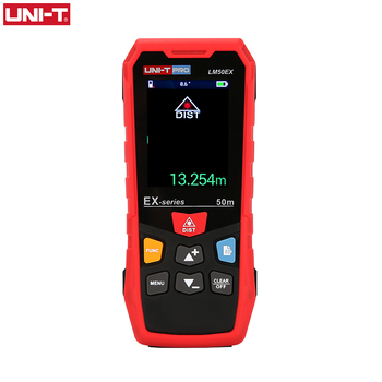 цены UNI-T 50m 70m 100m Handheld Laser Distance Meter Color Screen LM-EX Rangefinder  Laser Range finder Level Measure Trena Digital