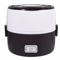 220V 200W 2 Layers Electric Heated Lunch Box Set Multifunctional Food Warmer Mini Rice Cooker Warmer for Students Dormitory