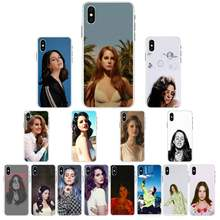 YNDFCNB Lana Del Rey negro TPU estuche para teléfono suave para iPhone X XS X MAX 6 6s 7 7plus 8 8Plus 5 5S se 2020 XR 12 11 pro max caso