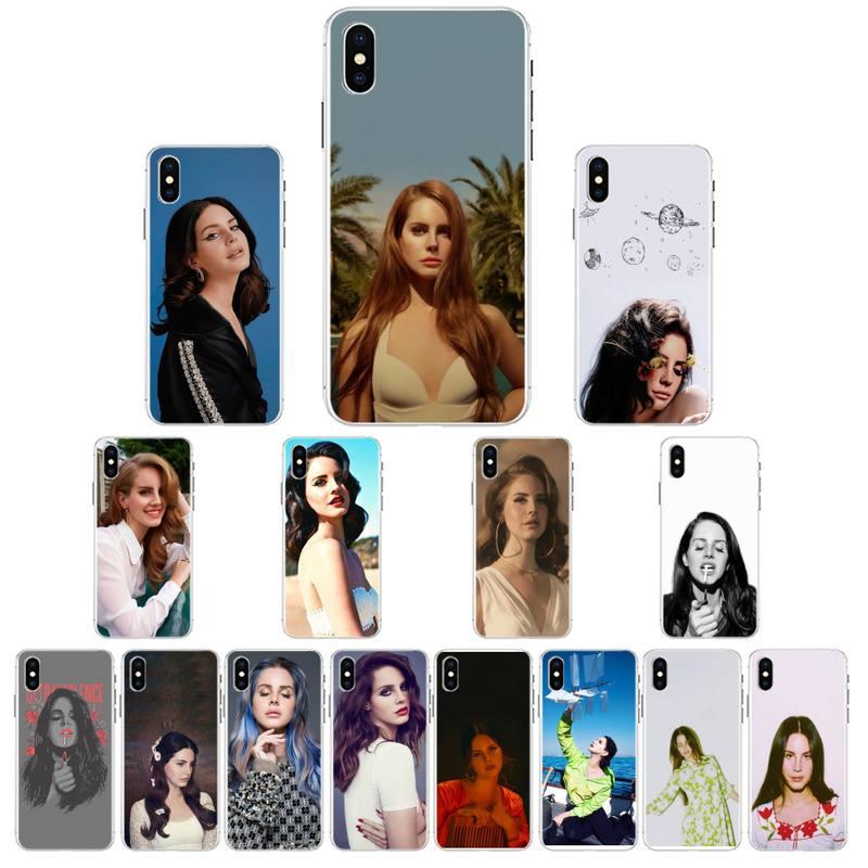 YNDFCNB Lana Del Rey Nero TPU Cassa Del Telefono Morbida Per iPhone X XS MAX 6 6s 7 7plus 8 8 più di 5 5S se 2020 XR 12 11 pro caso di max