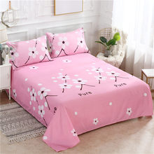 3 Pcs Bed Set Bed Sheet +2 Pc Pillowcase Bed Linen Mattress Covers Fitted Sheet Flat Sheet Bedsheet Queen King Full Twin Size(China)