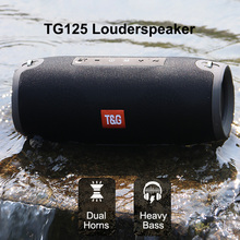 Portable Bluetooth Speaker 10w Wireless Bass Column Waterproof Outdoor Speaker Support AUX TF USB Subwoofer Loudspeaker TG125 аудио колонка bluetooth sruppor tf bluetooth speaker