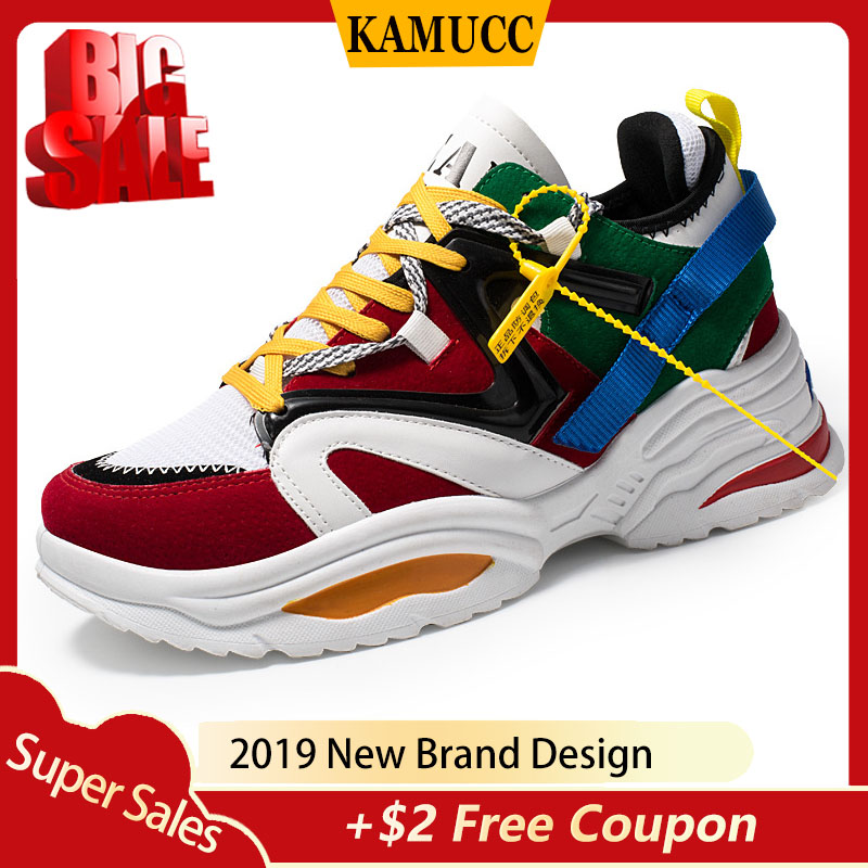 2019 Casual Shoes Men Breathable Sneakers High Quality Adults Masculino New Trend Fashion Cheap Lace Up Color Matching Zapatilla