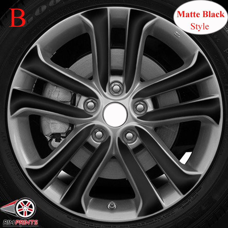 3D 4D Carbon/ Matte/ Glossy Black Wheel Stickers Car Styling For NISSAN JUKE F15 2011-2018 17