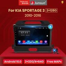 Junsun V1 2G + 32G אנדרואיד 10 DSP רכב רדיו מולטימדיה וידאו נגן ניווט GPS 2 דין עבור KIA Sportage 3 2010 2011 2016 לא dvd