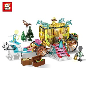 41167 Fozeninglys 2 Friend Girls Snow Ice Carriage House MOC Toy Blocks Figures Xmas Gifts(China)