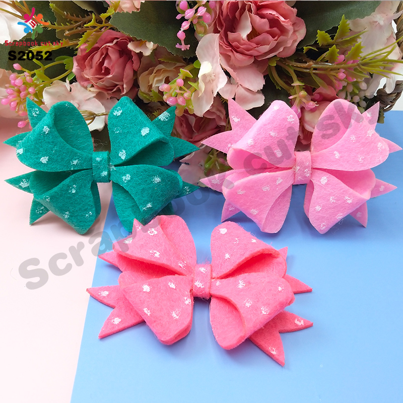 Clover Girl Headdress Bow Cutting Dies Scrapbook Cut Sky & Wing  Bow S2052 Steel Wooden Dies
