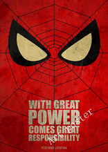 Spiderman Marvel Minimal Super Heroes Vintage Posters For Home Decor kraft Paper high quality wall stickers for living room(China)