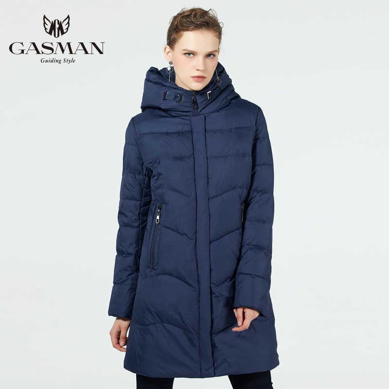 GASMAN 2019, женская зимняя куртка, длинное плотное пальто для женщин, пуховик с капюшоном, зимняя теплая Женская одежда, зимняя одежда размера плюс 7XL 6XL