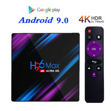 New H96 MAX Android 9.0 TV Box 4GB RAM 32GB 64GB ROM Set Top Box RK3318 4K 2.4G/5G WiFi Bluetooth smart Media Player Netfli BOX h96 max h2 4gb ram 32gb rom smart tv box rk3328 set top box 100m lan 5 0g wifi bluetooth 4 0 hd 4k media player