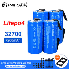 PALO 7200mAh 3.2V 32700 LiFePO4 Battery 32700 35A Continuous Discharge Maximum 55A High Power Batteries +DIY Nickel sheets