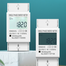 Electric-Meter Kwh Display-Power-Consumption Din-Rail Energy Digital AC 230V Single-Phase
