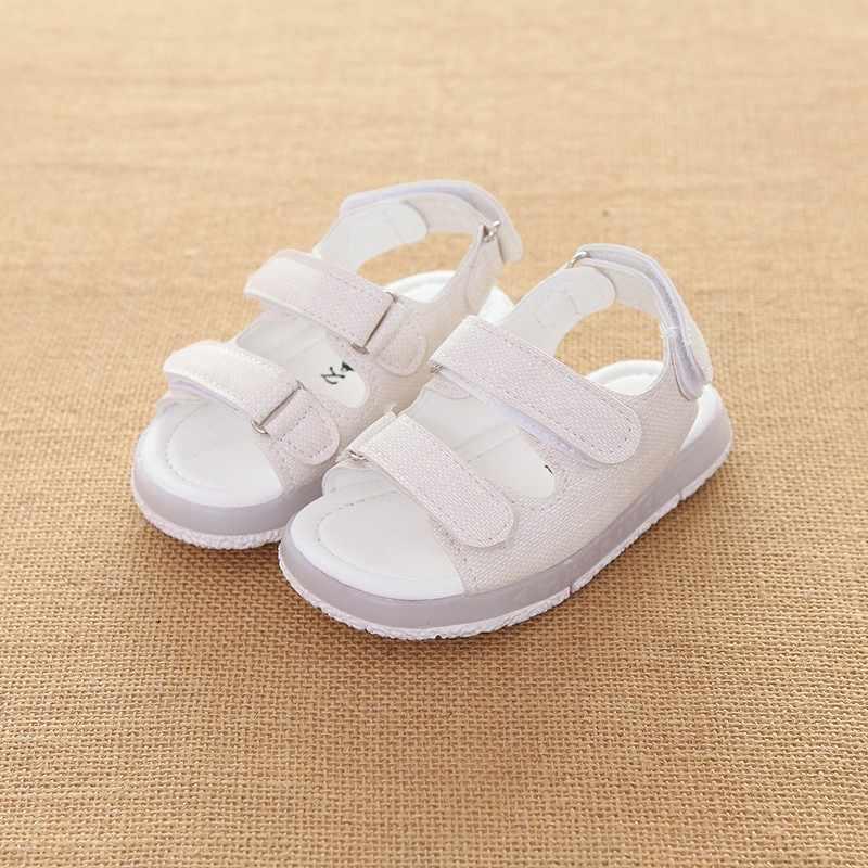 CYSINCOS/Новинка; сандалии для девочек и мальчиков; Светодиодный свет; детская пляжная обувь; Летняя детская обувь; милая обувь для девочек; Дизайнерские повседневные детские сандалии