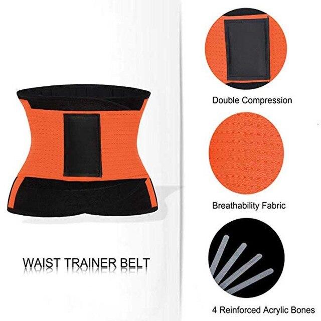 2019 New Adjustable Waist Support Belt Women And Men Waist Trimmer Belt Gym Train Waist Protector Fitness Belt 2