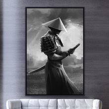 Japanese Samurai Canvas Painting Modern Posters And Prints Wall Art Pictures Abstract For Living Room Home Decoration Artwork