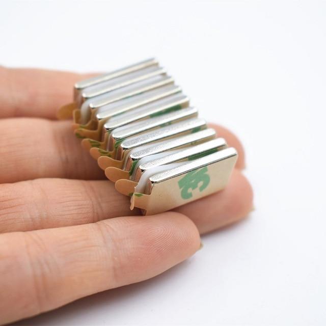 Фото 10 шт n52 неодимовый магнит с 3м клеем маленький блок супер цена