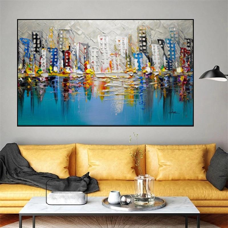 Cuadro de decoración arquitectónica para decoración de hotel y hogar, cuadros de arte de pared, salón de decoración
