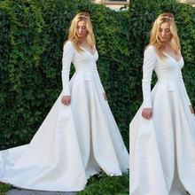 Винтажные Свадебные платья с длинными рукавами 2020 простые