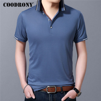 COODRONY Business Casual T-Shirt Men Fashion Small Collar Tee Shirt Homme Spring Summer Short Sleeve T Clothing C5057S - discount item  50% OFF Tops & Tees