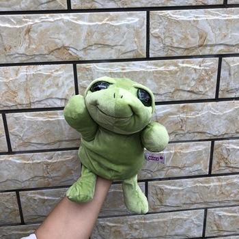 30cm gorąca sprzedaż edukacyjne zabawki pacynka na rękę ze zwierzęciem rysunkowy rekin żaba wilk kot kaczka żółwiem morskim orłem delfin pluszowa lalka zabawki dla dzieci tanie i dobre opinie Fancy Hotty smoke-free pet-free lalki Plush 3 lat SH-1 Unisex Hand Puppet