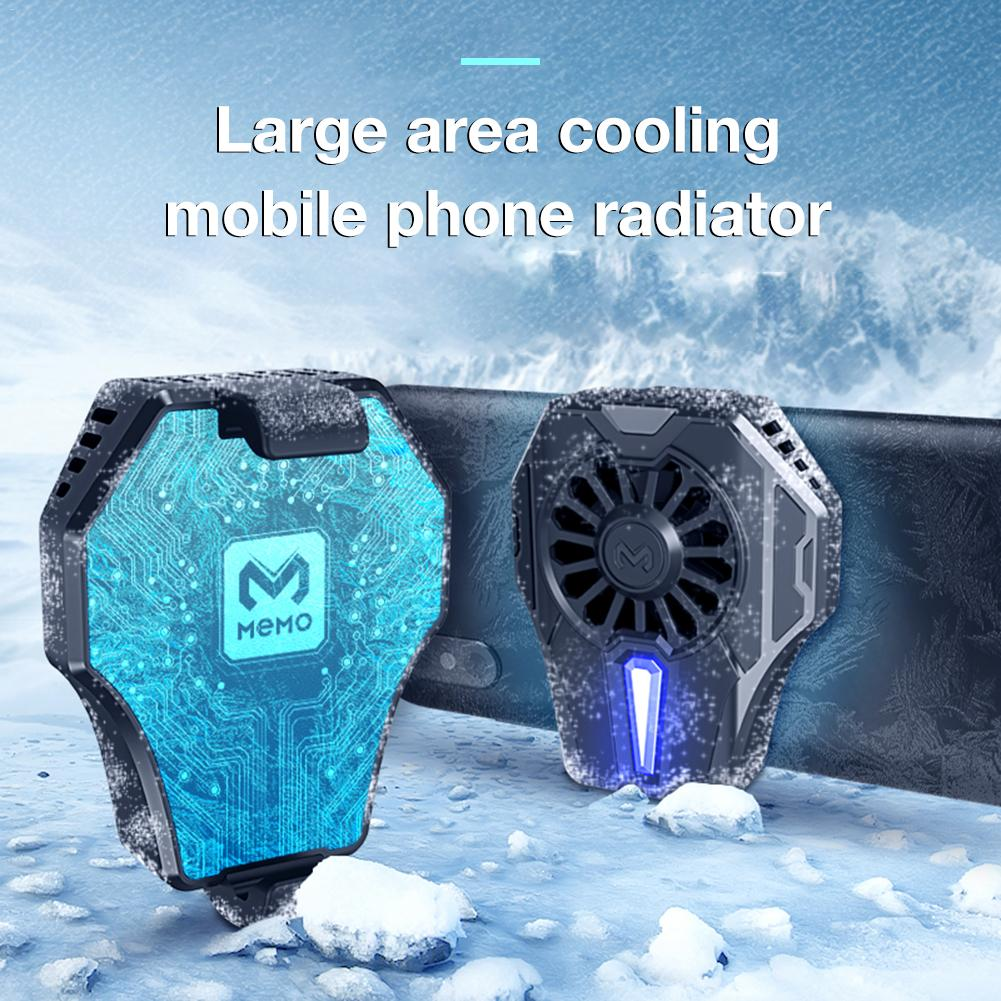 MEMO DL01 Mobile Phone Radiator Portable Gaming Cooler Wireless Phone Handle Mini Controller With Cooling Fan For PUBG Mobile