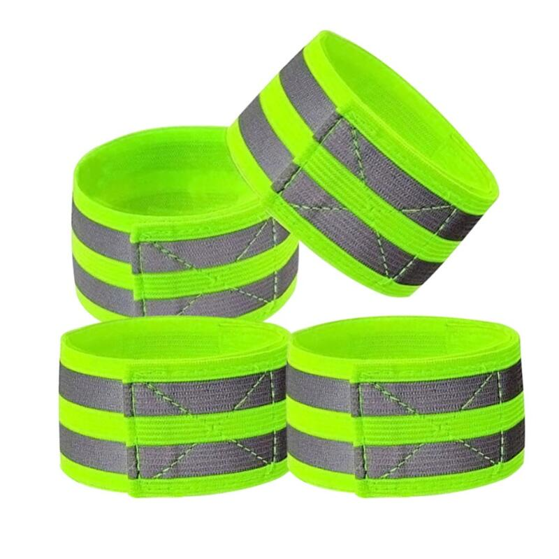 High Visibility Reflective Vest Elastic Strap Wristbands Ankle Emergence Warning Night Running Cycling Sports Safety Vests