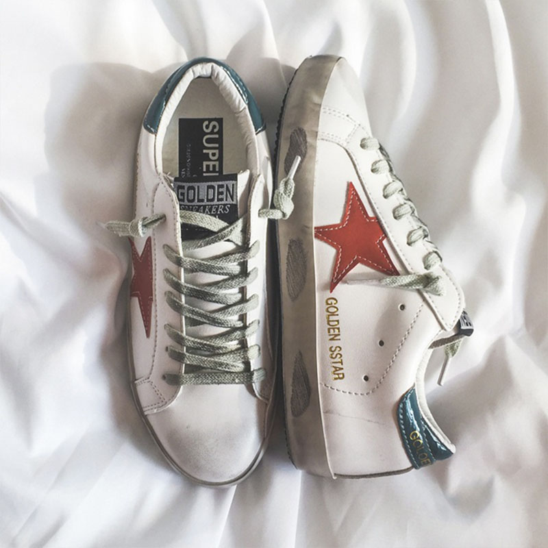 Used Sneakers, Flat Sole, Single Shoes, Stars, All Kinds Of Basic Little White Shoes