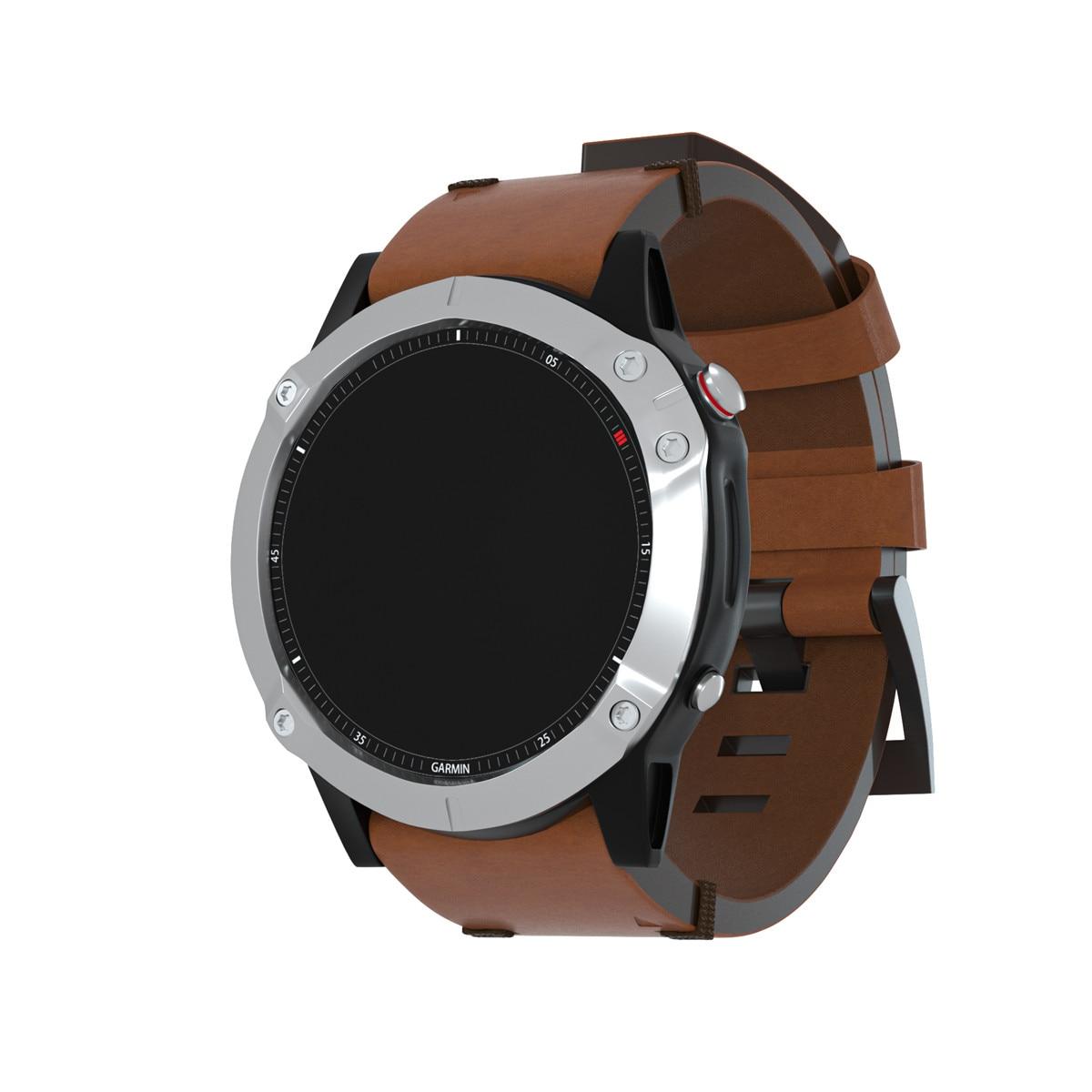 YAYUU For Garmin Fenix 6 Fenix 6X Wristband Quick Fit Genuine Leather Watchband For Fenix 5/Fenix 6 / Fenix 5X/6X WristStrap