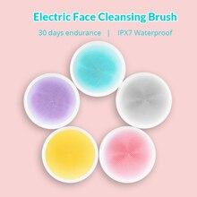 Xiaomi doco elétrica rosto profundo escova de limpeza silicone ultra sônica purificador da pele massageador alimentado dispositivo limpeza facial