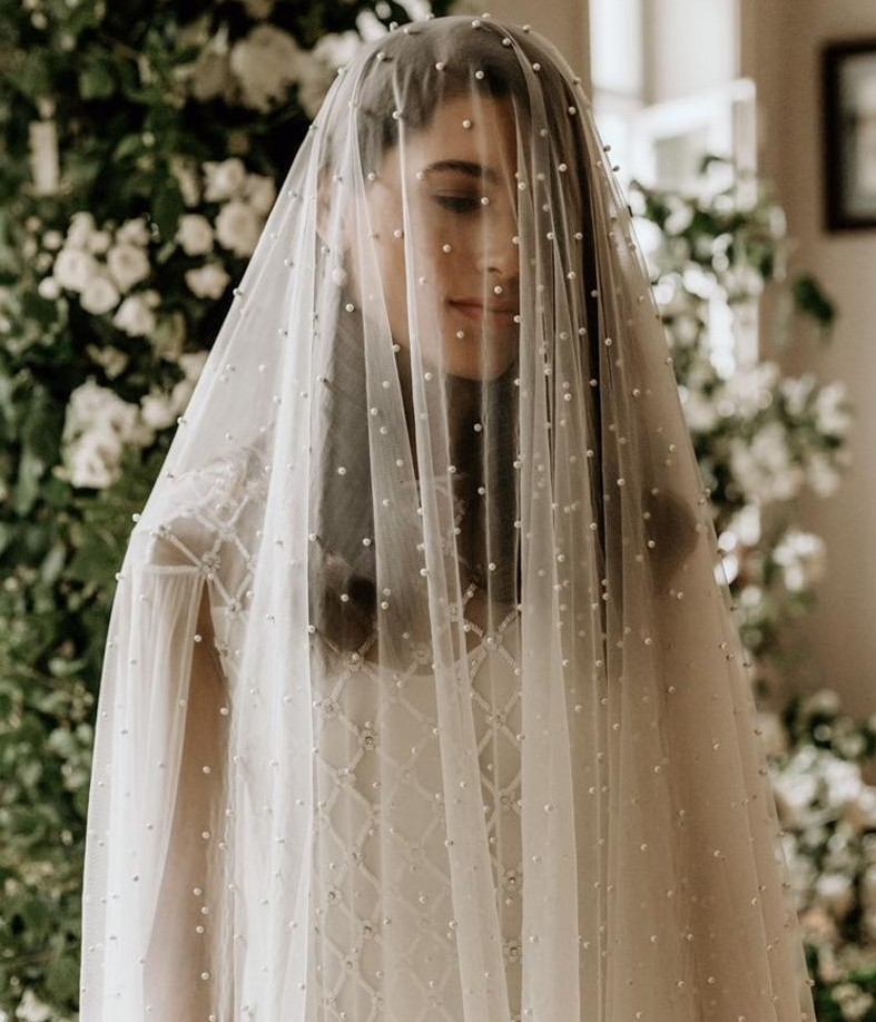 One Layer Wedding Veils With Comb Pearls White Ivory Soft Tulle Bridal Veil Cheap Wedding Accessories