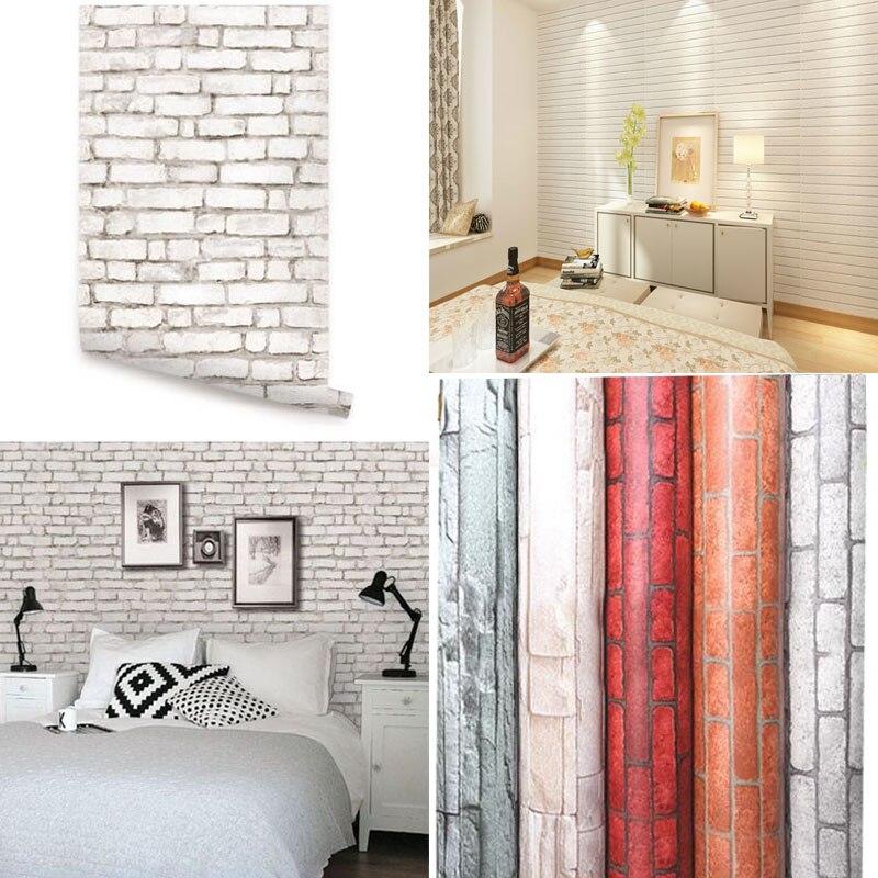Кирпич Стиль самоклеющиеся обои DIY стикер стены панели наклейка домашний декор