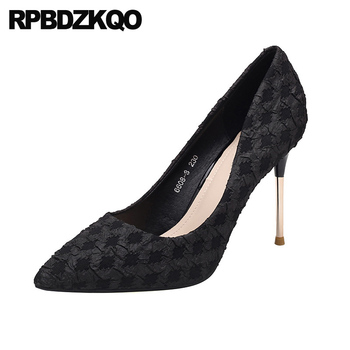 super black slip on ultra scarpin extreme pumps thin pointed toe size 4 34 2019 brand high heels luxury shoes women designers