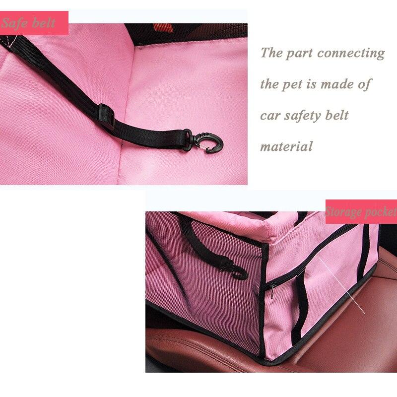 Folding Pet Dog Carrier Pad Waterproof Dog Cat Seat Bag Basket Pet Products Safe Carry House Cat Puppy Bag Dog Car Seat 4