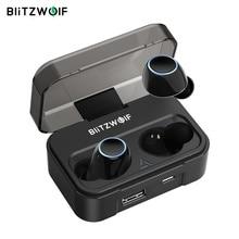 Blitzwolf BW FYE3 Touch Control Bluetooth V5.0 TWS Trueหูฟังไร้สายHiFiสเตอริโอทวิภาคีสายกีฬาหูฟังชุดหูฟัง