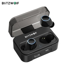 Blitzwolf BW FYE3 التحكم باللمس بلوتوث V5.0 TWS سماعة أذن أصلية لا سلكية HiFi ستيريو المكالمات الثنائية واقي أذن رياضي سماعات