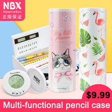 Cute Cartoon School Pencil Cases Multi function Cylindrical Kawaii Creative Newmebox Stationery for Teenage Girls Gift for Boys