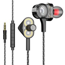 I8 HIFI Earphone 3 Dynamic Bass Ear Buds In Ear Stereo Headphones Rock DJ Headset with Microphone Earsets for Xiaomi/iPhone fiio f3 dynamic in ear monitors earphone with in line microphone and remote controls 3 5mm l shaped jack colorful earbud