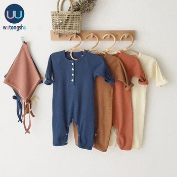 Baby Boy Romper Clothes 0-24M Newborn Girl Rompers Cotton Long Sleeve Jumpsuit Outfit Clothes Hat For Kids Baby Onesie Autumn baby rompers autumn long sleeve newborn baby boy girl bear toddler jumpsuit romper baby clothes hooded 2018 cute clothing 2yrs