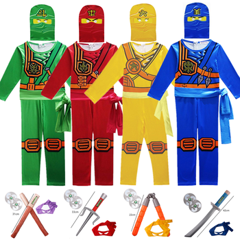 Ninjago Cosplay Costumes Boys and Girls Jumpsuit weapon Set cosplay anime children's fantasy Halloween Christmas Party clothes - discount item  41% OFF Costumes & Accessories