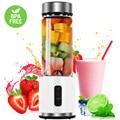 380 ml Glas Tasse Mini Mixer Entsafter 4000 mAh Mixer Portable USB Aufladbare Obst Zitrus Orange Saft Maker Mixer Flasche