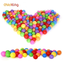 ChildKing 100/200pcs 5.5/7cm Balls Pool Balls Soft Plastic Ocean Ball For Playpen Colorful Soft Stress Air Juggling balls