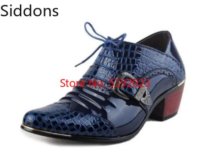 Luxury Men Formal Shoes High Heels Business Dress Shoes  Zapatos De Hombres  Formal Shoes Men   D311