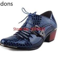 Luxury Men Formal Shoes High Heels Business Dress Shoes Zapa