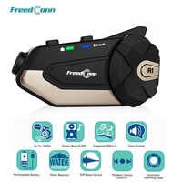 FreedConn R1 Motorrad Intercom Helm Bluetooth Headset Intercom 1080P HD Video Wifi Recorder Kamera Intercomunicador