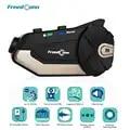 Freedconn r1 motocicleta intercom capacete fone de ouvido bluetooth intercom 1080 p hd vídeo wi fi gravador câmera intercomunicador