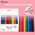 Tenwin 12 шт. моющиеся ручки для краски, набор маркеров, Аэрограф, цветная ручка для заправки, для электрической распылительной ручки, маркер, ра...
