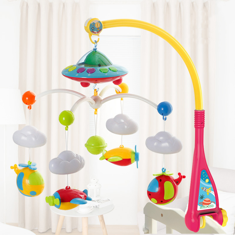 0-12 Months Baby Toys Bed Bell Animal Musical Crib Mobile Hanging Rattles Newborn Early Learning Kids Toy