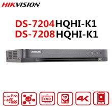 Hik 4MP Turbo HD DVR DS 7204HQHI K1 4 In 1 เครื่องบันทึกวิดีโอAHD CVI CVBS TVI Analogกล้อง